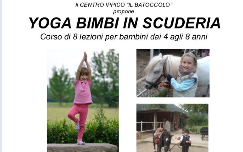 Yoga bimbi in scuderia