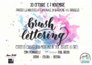 Brush lettering @ Biblioteca di Gardone Val Trompia | Gardone Val Trompia | Lombardia | Italia