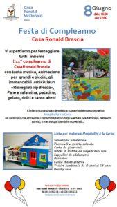 Compleanno Casa Ronald @ Fondazione Casa Ronald | Brescia | Lombardia | Italia