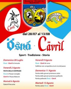 Ösnà-Cävríl - Festa delle contrade @ Bagolino | Bagolino | Lombardia | Italia