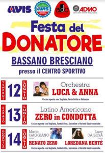 Festa del donatore a Bassano Bresciano @ Bassano Bresciano | Calvisano | Lombardia | Italia