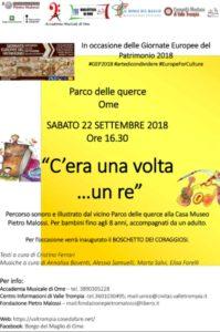C'era una volta un re - Letture sonorizzate nel parco @ Parco delle querce Ome | Lombardia | Italia