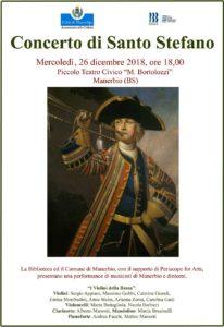 """Concerto di Santo Stefano @ Piccolo Teatro """"Memo Bortolozzi"""" - Manerbio (BS)   Manerbio   Lombardia   Italia"""