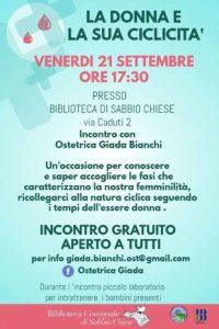 La donna e la sua ciclicità @ Biblioteca di Sabbio Chiese | Sabbio Chiese | Lombardia | Italia
