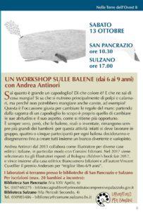 Workshop sulle balene @ Biblioteca San Pancrazio | Palazzolo sull'Oglio | Lombardia | Italia