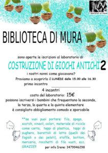 Costruzione di giochi antichi @ Biblioteca Mura di Palazzolo | Palazzolo sull'Oglio | Lombardia | Italia