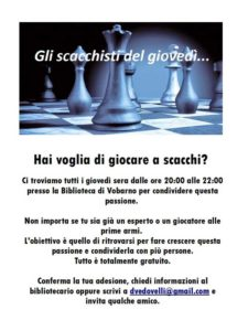 Giochiamo a scacchi @ biblioteca di Vobarno | Vobarno | Lombardia | Italia