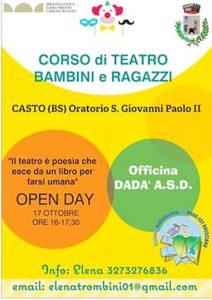 Open day corso teatro bambini e ragazzi @ oratorio Casto | Lombardia | Italia