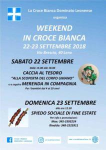 Weekend in Croce Bianca @ Croce Bianca Leno | Leno | Lombardia | Italia