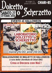 Laboratorio Halloween-Dolcetto o Scherzetto @ CITS CENTER  | Chiari | Lombardia | Italia