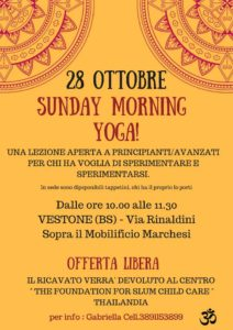 Sunday morning yoga @ Vestone | Lombardia | Italia