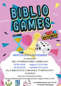 International Games Day - Bovezzo @ Biblioteca Bovezzo | Bovezzo | Lombardia | Italia