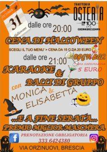 Serata di Halloween @ Osteria n. 100 - Orzinuovi | Brescia | Lombardia | Italia