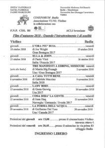 Cineforum autunno Badia @ Villaggio Badia | Brescia | Lombardia | Italia