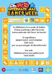 International Games Day - Sabbio Chiese @ Biblioteche Sabbio Chiese | Sabbio Chiese | Lombardia | Italia