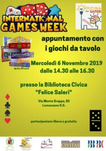 International games day - Lumezzane @ biblioteca Lumezzane | Lumezzane | Lombardia | Italia