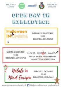 Open day biblioteca di Gambara @ Biblioteca Gambara | Gambara | Lombardia | Italia