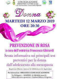 Prevenzione in rosa @ Biblioteca di Agnosine | Agnosine | Lombardia | Italia