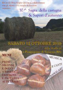 Sagra della Castagna e sapori d'autunno @ Pompegnino | Pompegnino | Lombardia | Italia