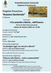 Tra autorità e libertà: dell'Essere @ Sala Civica Comunale Paderno Franciacorta | Paderno Franciacorta | Lombardia | Italia