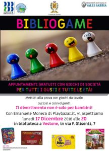 Bibliogame a Vestone @ Biblioteca di Vestone | Vestone | Lombardia | Italia