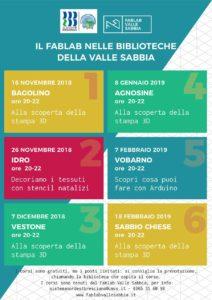 FabLab nelle biblioteche della Val Sabbia @ Biblioteche Valle Sabbia | Bagolino | Lombardia | Italia