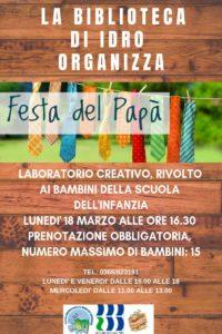 Festa del papà @ Biblioteca di Idro | Crone | Lombardia | Italia