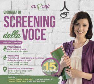 Giornata di Screening della voce(valutazione e laboratorio) @ Centro servizi Ghedi | Ghedi | Lombardia | Italia