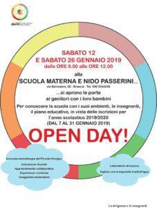Open day scuola Passerini @ Scuola materna nido Passerini