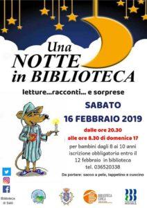 Una notte in biblioteca @ Biblioteca Salò | Salò | Lombardia | Italia