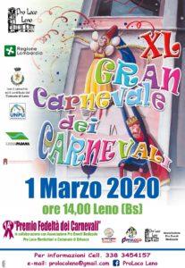 Gran Carnevale dei Carnevali a Leno @ centro di Leno | Leno | Lombardia | Italia