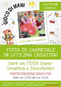 Festa di Carnevale in officina creativa @ Officina Creativa Il Nano e la Mela | Gussago | Lombardia | Italia