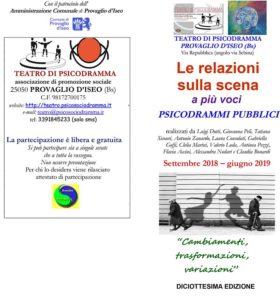Le relazioni sulla scena @ Teatro di Psicodramma - Provaglio d'Iseo | Fontane-zurane-gresine | Lombardia | Italia