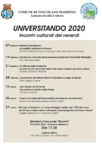 Universitando - incontri culturali @ Sala Consiliare dell'Ex Municipio - Sala Fossati | Toscolano Maderno | Lombardia | Italia