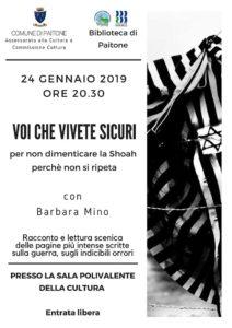 Voi che vivete sicuri @ Biblioteca di Paitone | Paitone | Lombardia | Italia