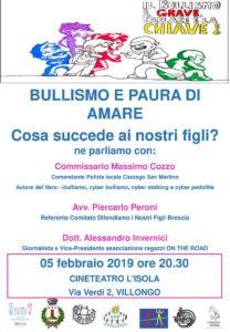Bullismo e paura di amare @ CINETEATRO L'ISOLA - Villongo