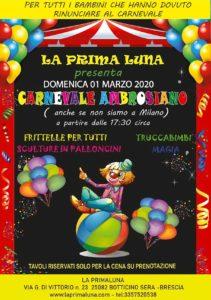 Carnevale Ambrosiano alla Prima Luna @ La Prima Luna Botticino | Botticino | Lombardia | Italia