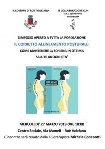 Il corretto allineamento posturale @ Centro Sociale Roè Volciano | Lombardia | Italia