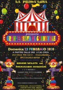 Grande Festa di Carnevale alla Prima Luna @ La Prima Luna Botticino | Botticino | Lombardia | Italia