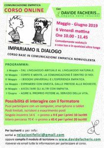 Impariamo il dialogo - corso online @ Davide Facheris - Comunicazione Empatica