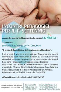 Il primo settennio @ Centro La Ninfea | Lonato | Lombardia | Italia