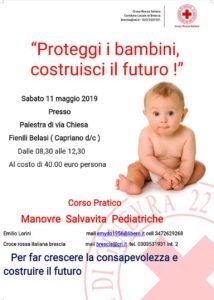Corso di Primo Soccorso Pediatrico e Manovre Salvavita @ Palestra Fenili Belasi | Castegnato | Lombardia | Italia