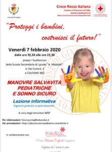 Manovre Salvavita pediatriche e sonno sicuro @ Auditorium scuola Mazzotti | Castegnato | Lombardia | Italia