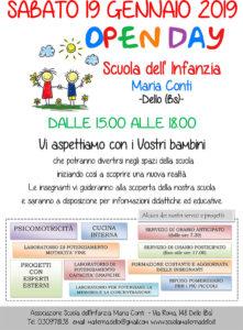 Open day scuola infanzia Maria Conti Dello @ Scuola Infanzia Maria Conti - Dello