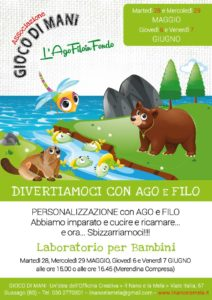 Giocodimani - Divertiamoci con ago e filo @ Officina Creativa Il Nano e la Mela | Gussago | Lombardia | Italia