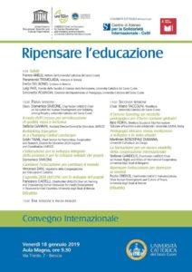 Ripensare l'educazione @ Università Cattolica