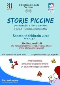 Storie piccine @ Biblioteca di Sarezzo