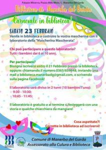 Carnevale in biblioteca a Manerba @ Biblioteca di Manerba d/G