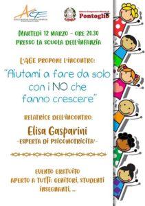 Aiutami a fare da solo con i NO che aiutano a crescere @ scuola infanzia Pontoglio