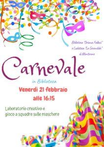 Carnevale in biblioteca a Montirone @ biblioteca Montirone | Montirone | Lombardia | Italia